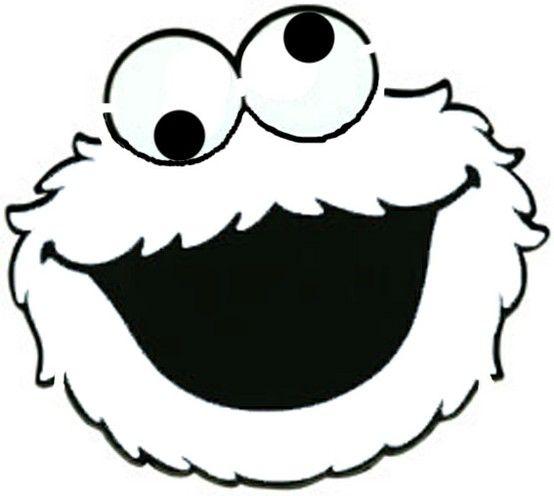 Cookie Monster black/white face.
