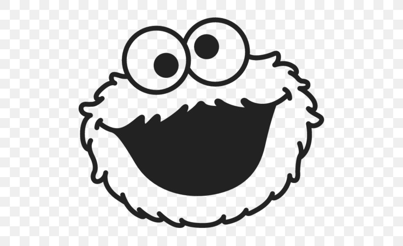 Cookie Monster Elmo Black And White Cookie Biscuits Clip Art.