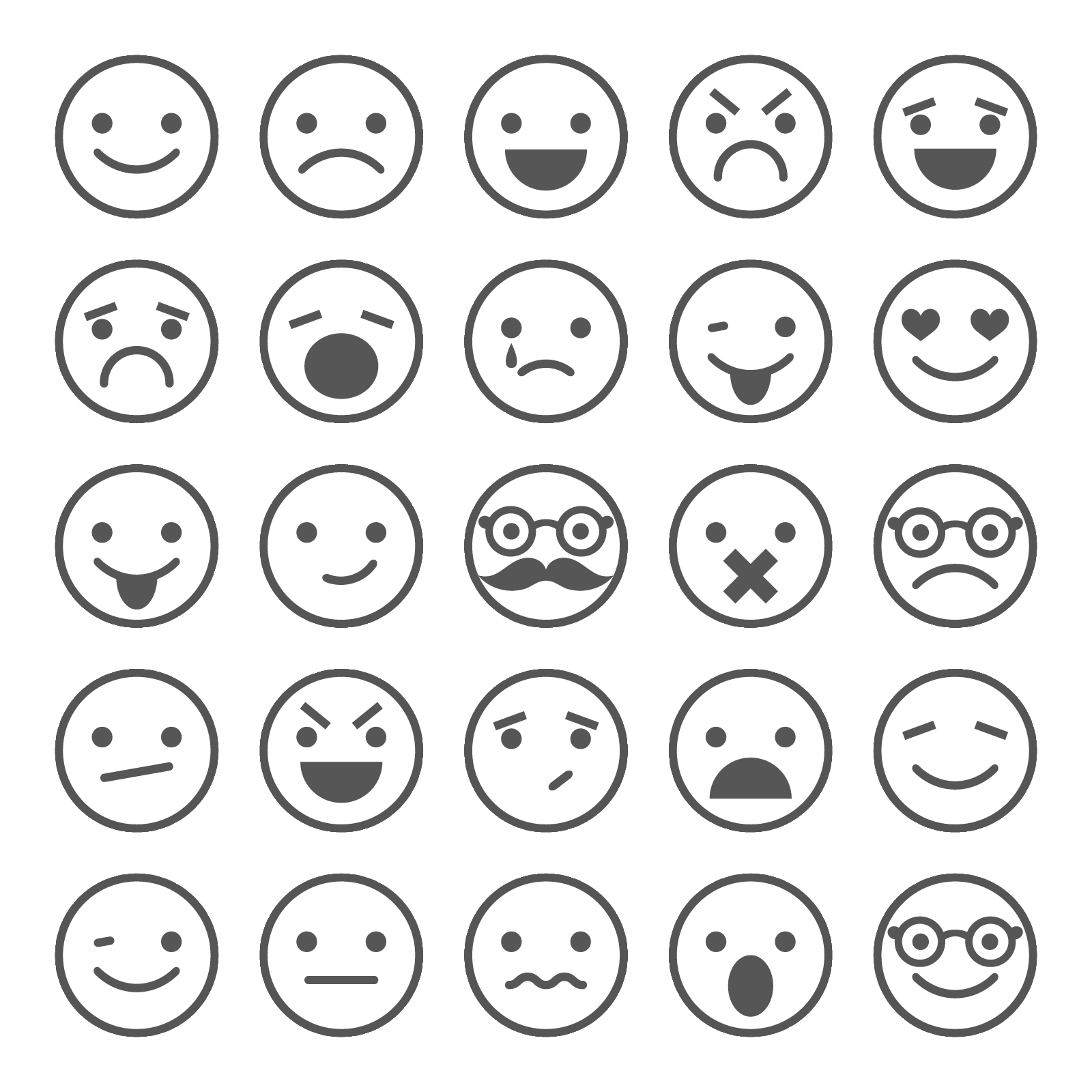 Free Emotions Clipart Black And White, Download Free Clip.