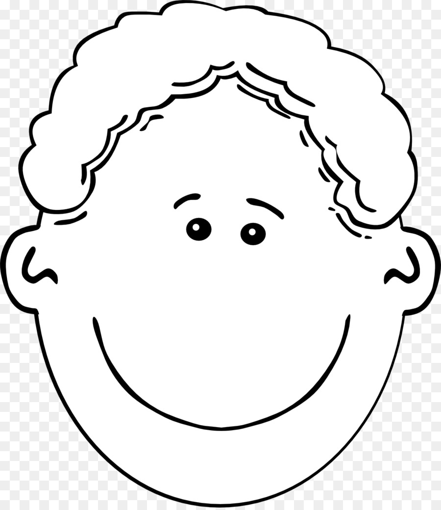 Boy face clipart black and white 1 » Clipart Station.