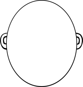 Blank Face Clip Art Black and White.