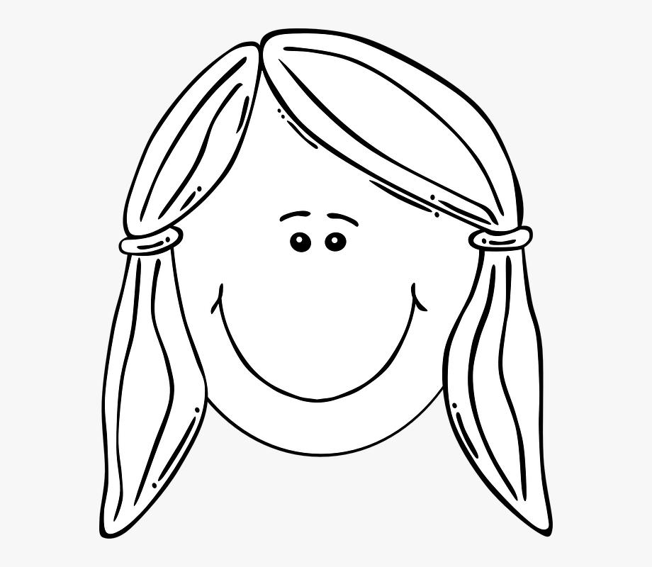 105,5kb Sad Woman Face Clipart Coloring.