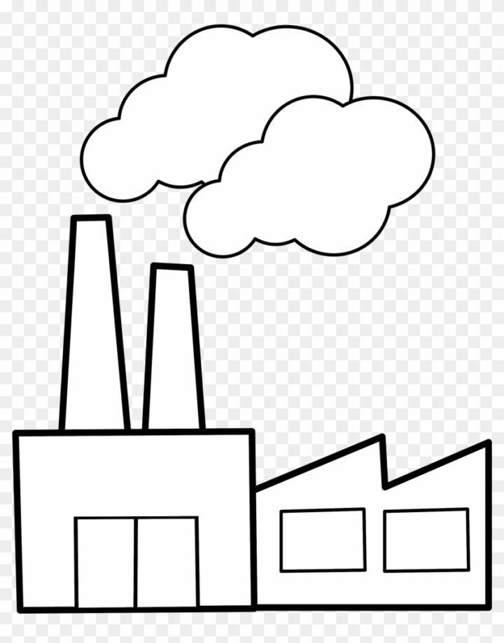 Black And White Factory Clipart Clip Art Of Factory Black.