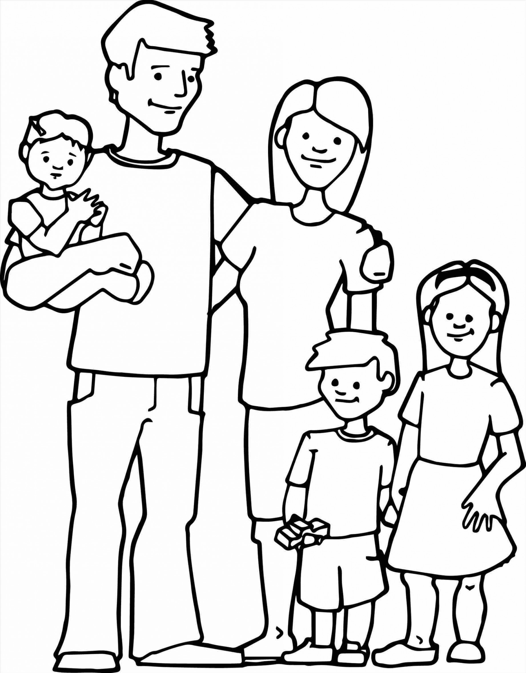 Family Clipart Black And White (90+ images in Collection) Page 1.
