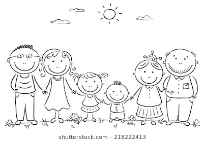 Clipart black and white family 2 » Clipart Station.