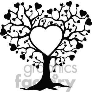 Black Family Tree Clipart.