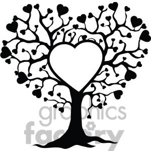 Black Family Tree Clipart.