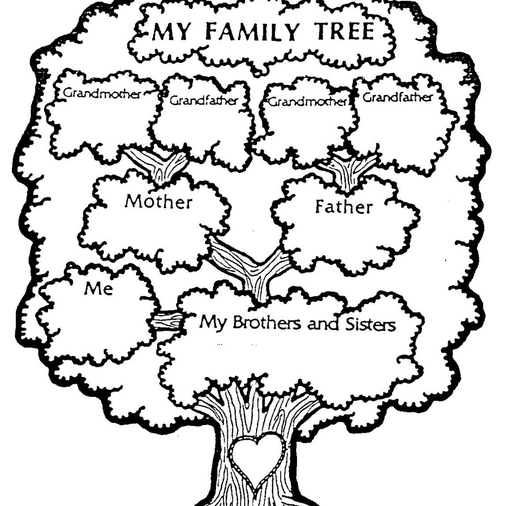 Family Tree Clipart Black And White Free.