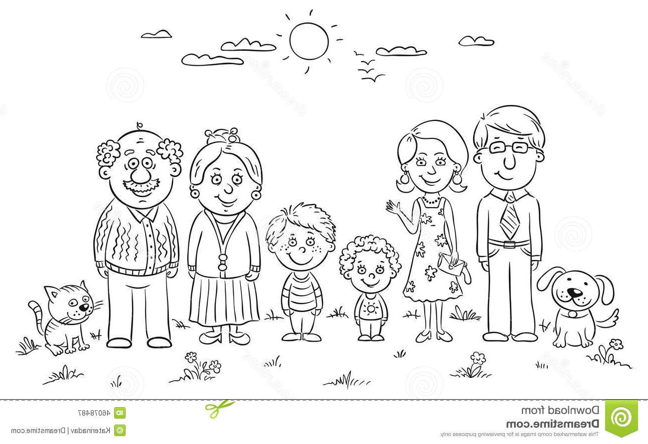 Black and white family clipart 3 » Clipart Station.