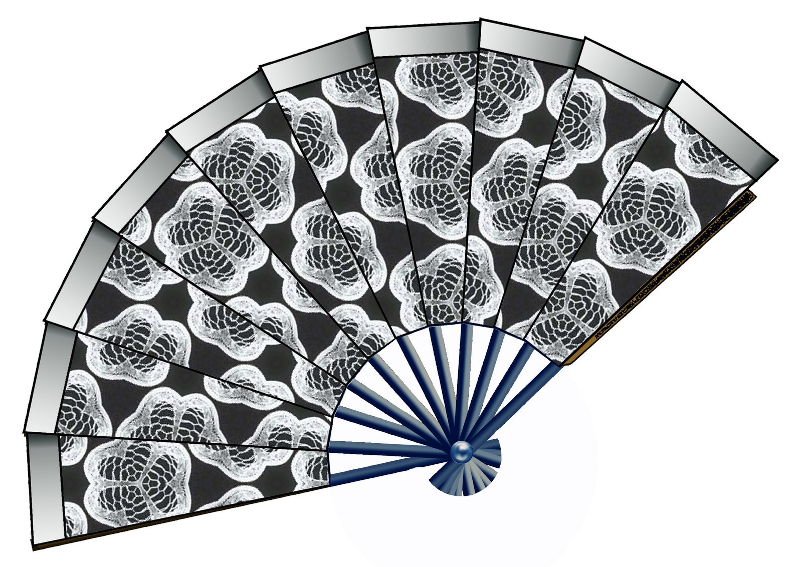 Fan black and white clipart 5 » Clipart Station.