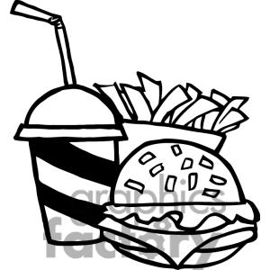 Fast Food Clipart Black And White.