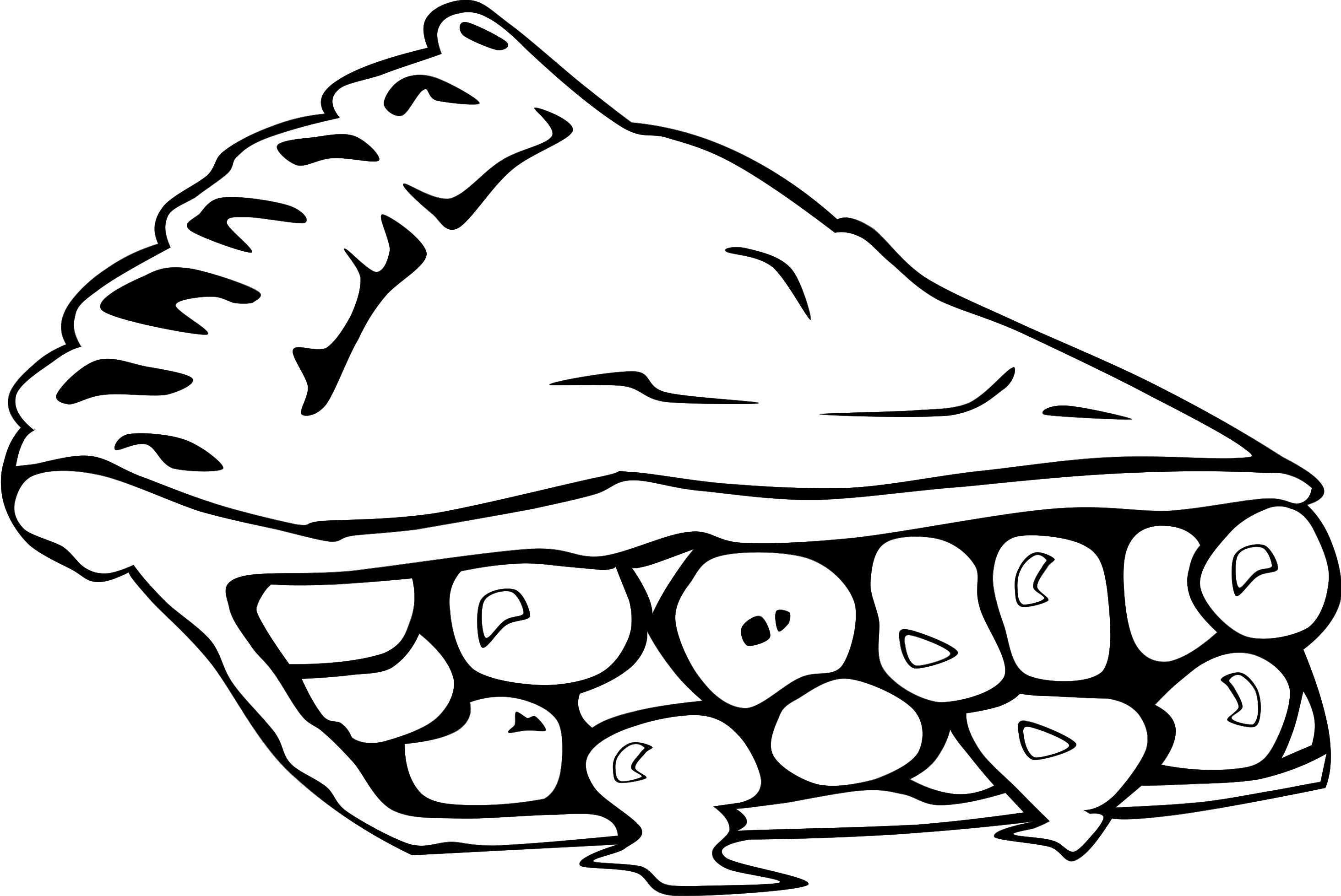 Pie black and white pie clip art black and white free clipart.