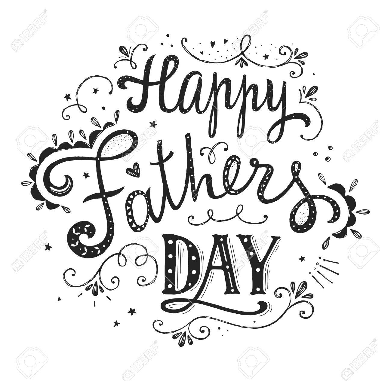 Happy Fathers Day Clipart Black And White Quote & Free Clip Art.