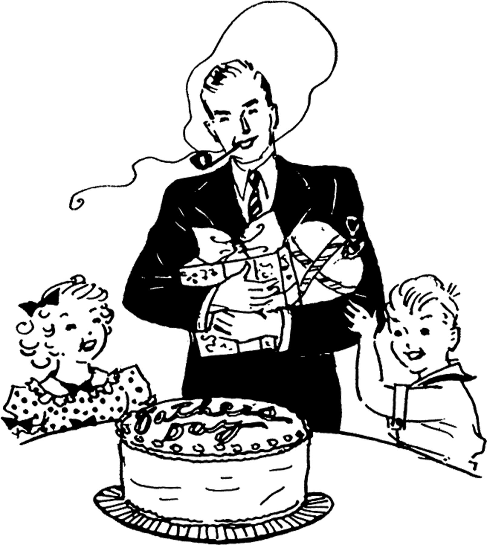 12+ Retro Father's Day Clipart!.