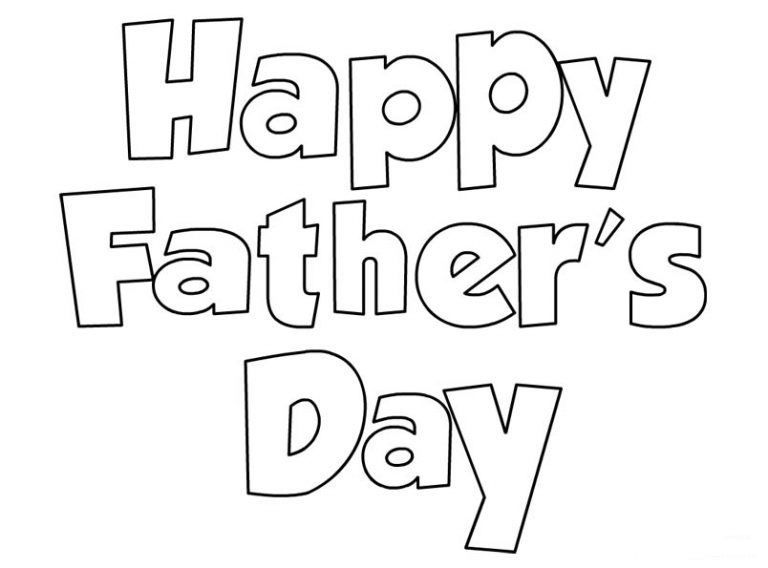 Happy fathers day clipart black and white 7 » Clipart Station.