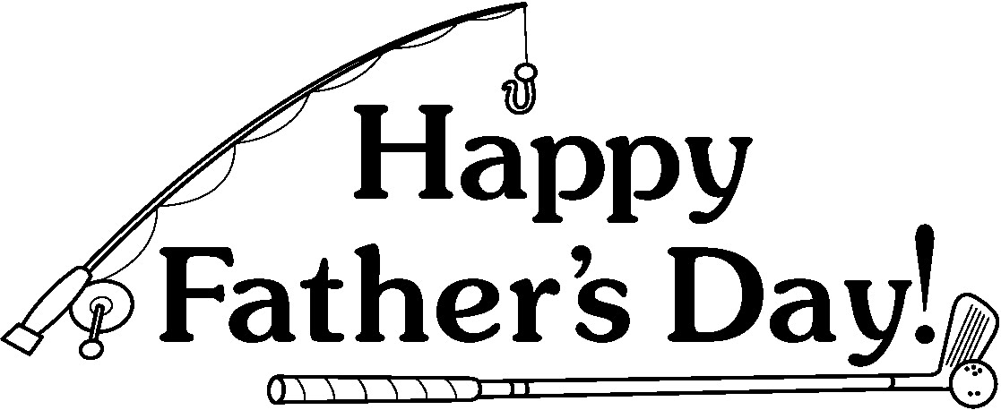 Happy fathers day clipart black and white 3 » Clipart Station.