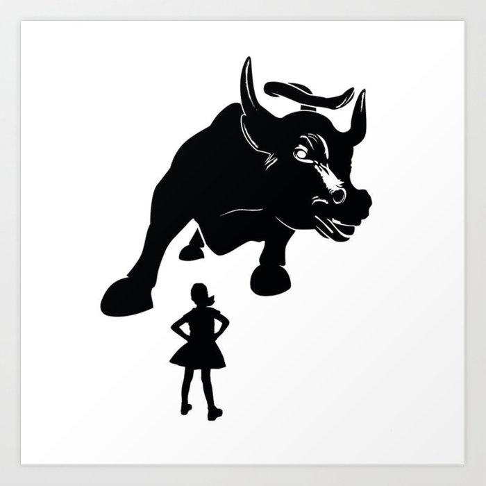 Girl vs Charging Bull.