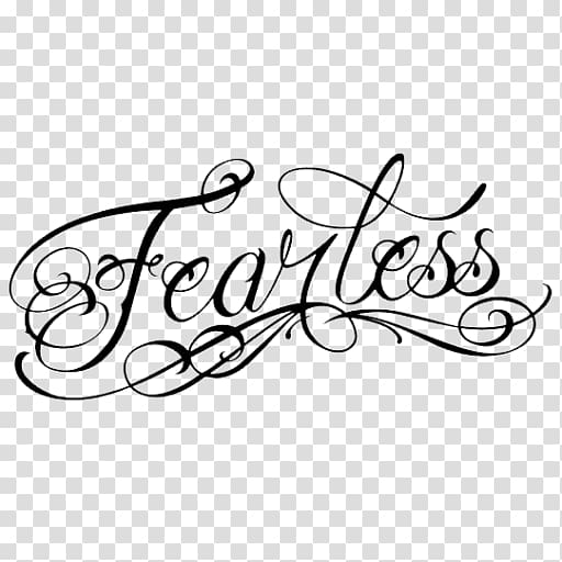 Brand Calligraphy , fearless transparent background PNG.