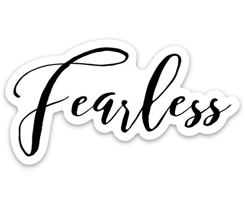 Amazon.com: Fearless Sticker, Vinyl Die Cut Decal, Laptop.