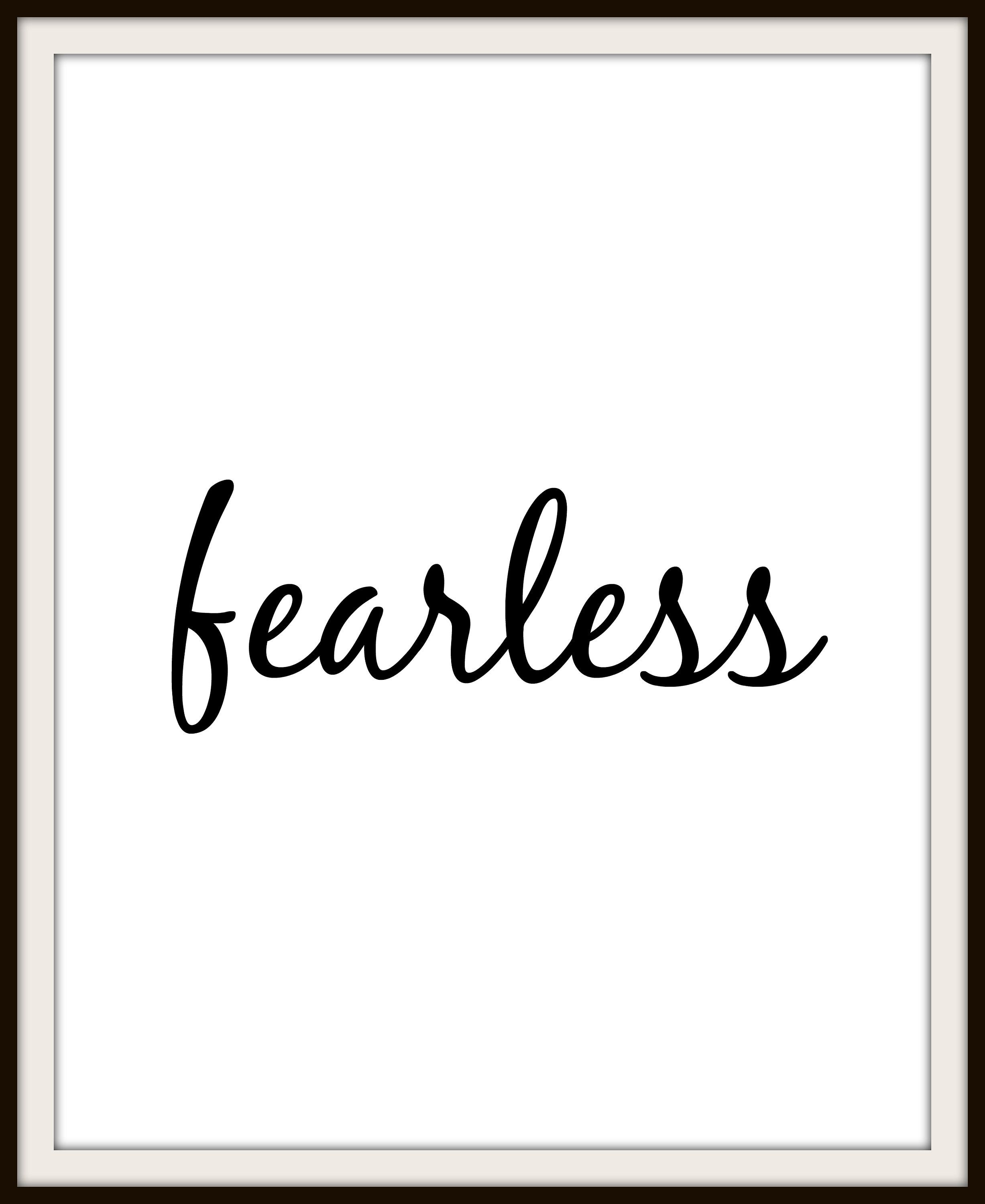 Fearless One Word Print, Printable Wall Art, Home Decor.