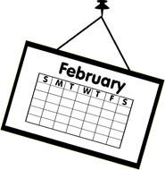 Calendar clipart february, Calendar february Transparent.