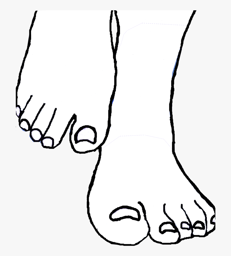 Foot Clipart Black And White Foot.