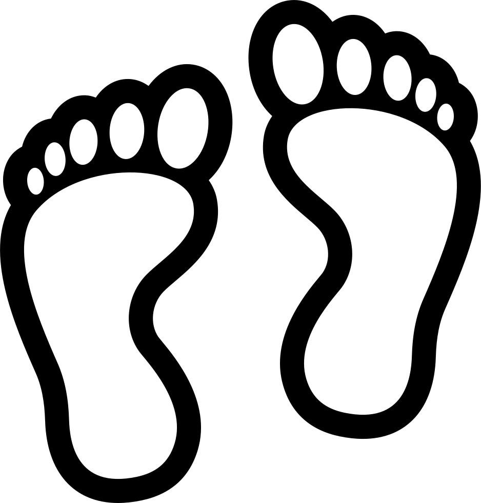 Download High Quality feet clipart black and white.