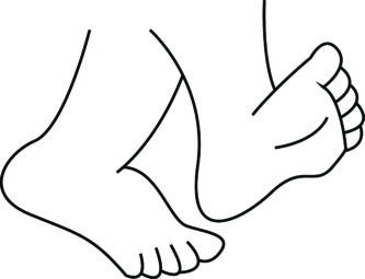 Download High Quality foot clipart black and white.