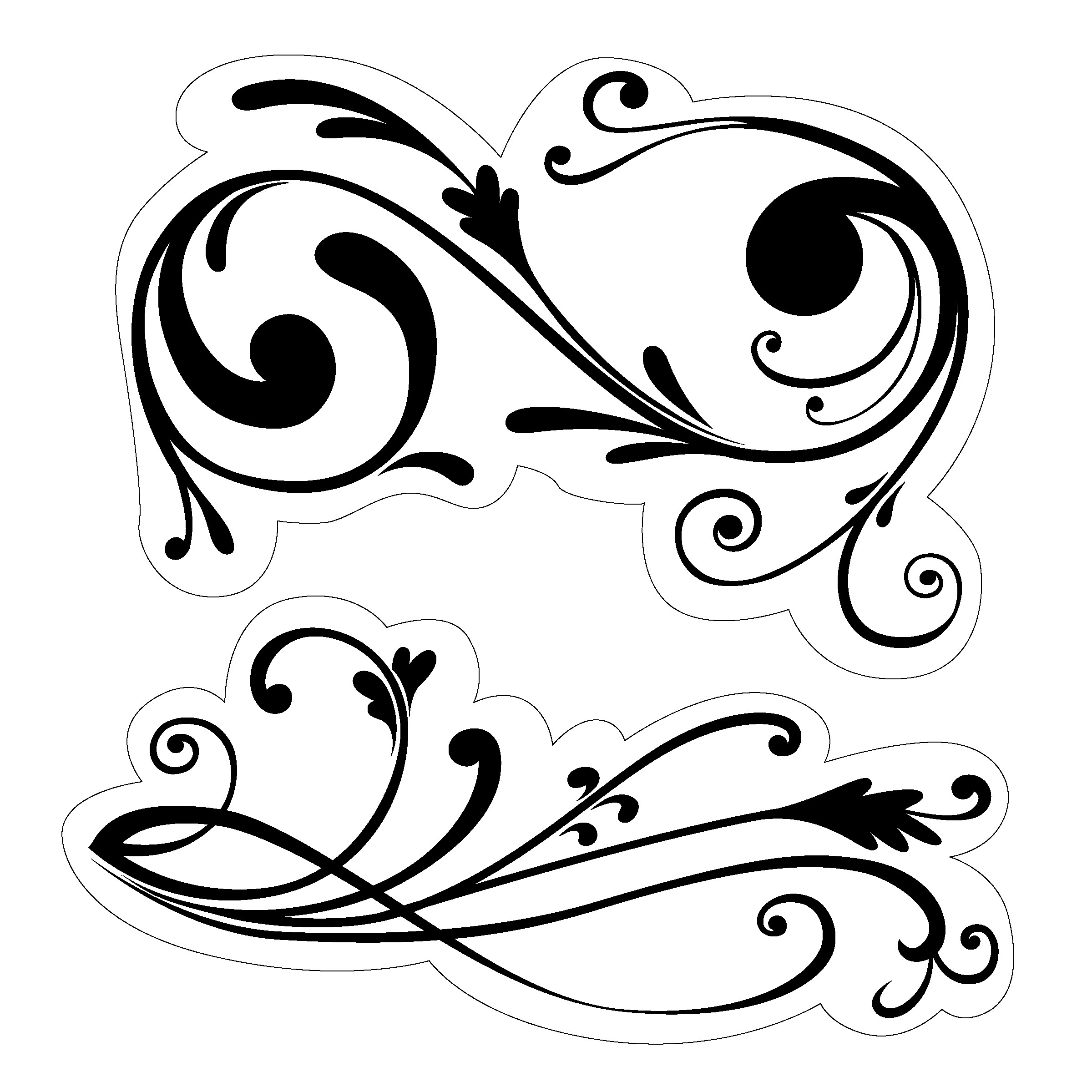 Free Black And White Filigree, Download Free Clip Art, Free.