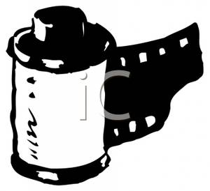 Film clipart black and white.