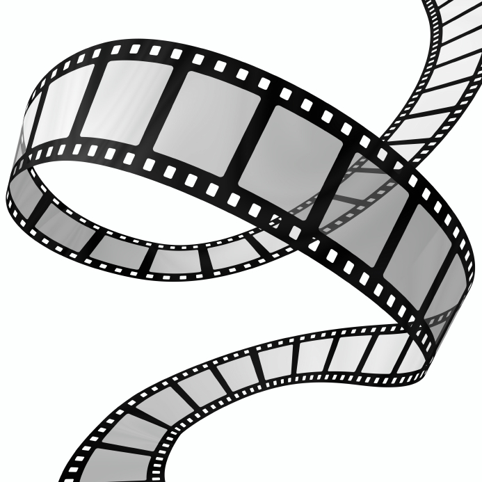 Black And White Movie Night Clipart.