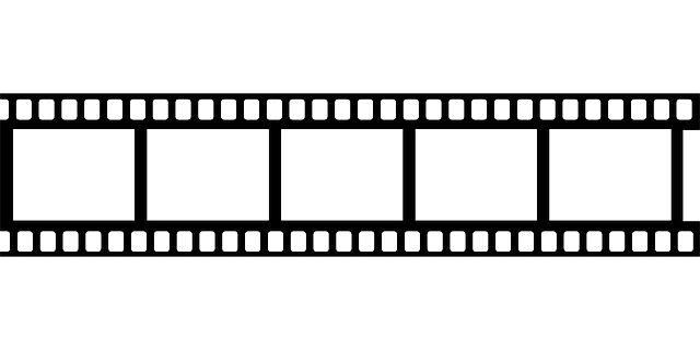 Free Drive In Movie Clip Art Black Frame White Movie Tape Film.