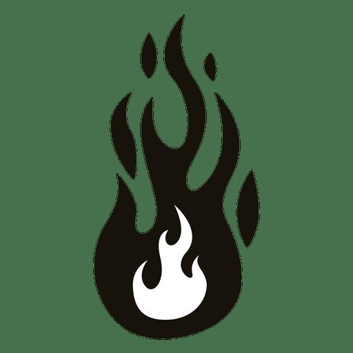 Fire cartoon flame illustration black white.