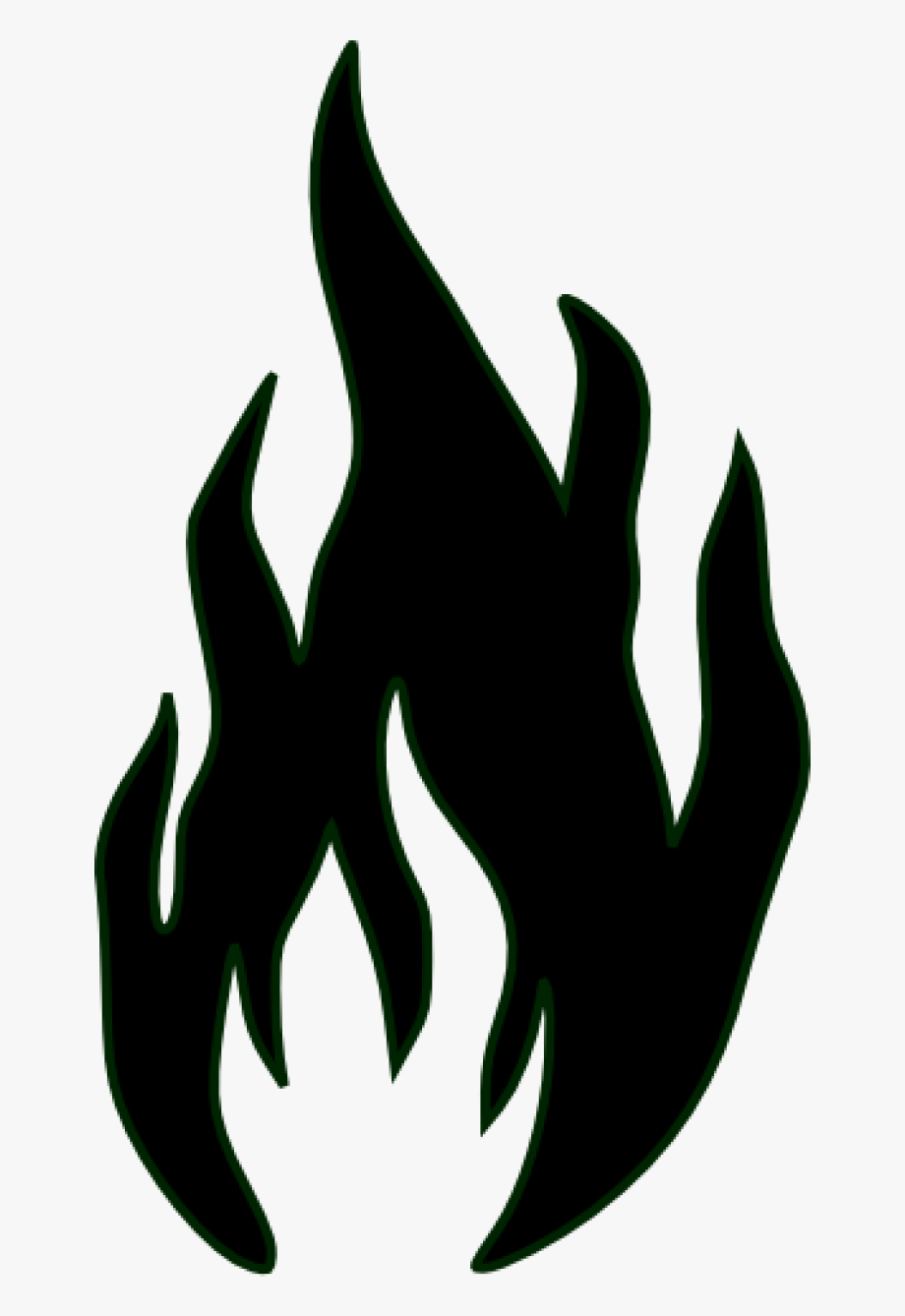 Black And White Fire Clipart.