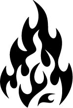 Black And White Fire Clipart Black Lg Md Png Pictures To.