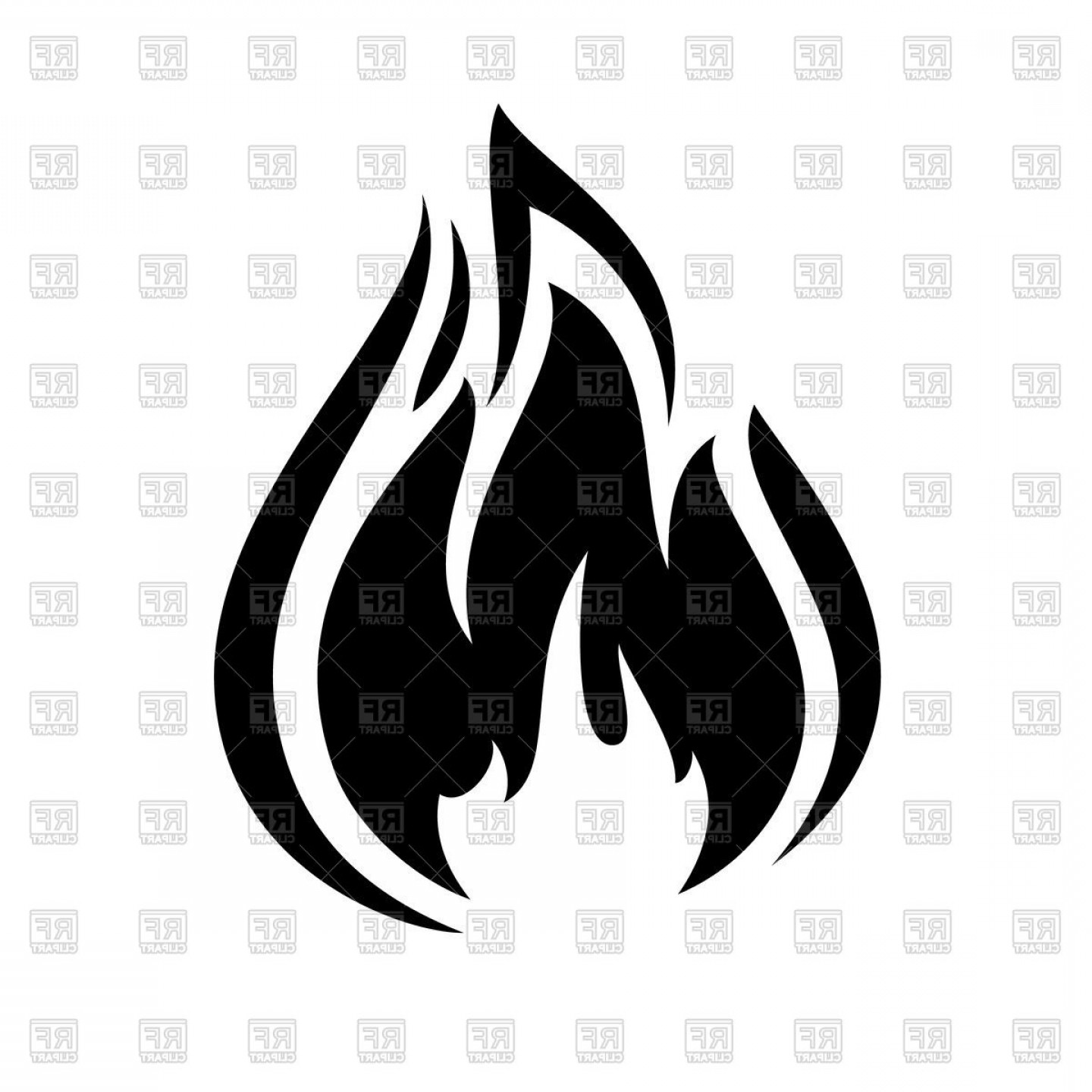 Black And White Fire Clipart (84+ images in Collection) Page 2.