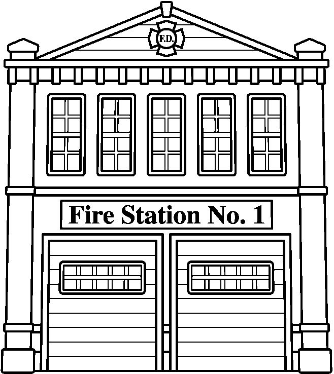 Fire Department Clip Art Black And White.