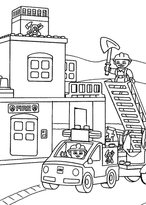 Fire Station Coloring Pages best photos of firehouse station.