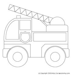 black and white fire truck clip art 20 free cliparts