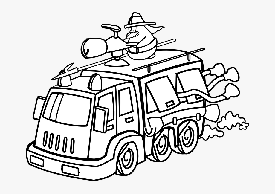 Fire Truck Clipart Outline.