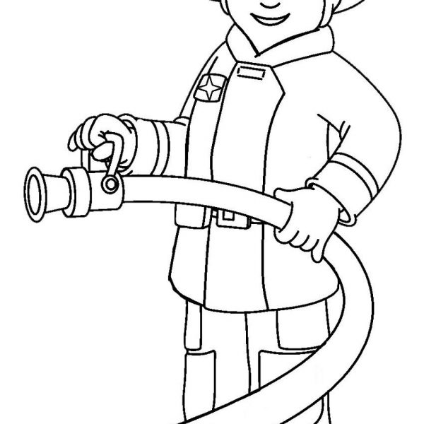 Fireman Firefighter Clipart Black And White Clipartfest Within in.