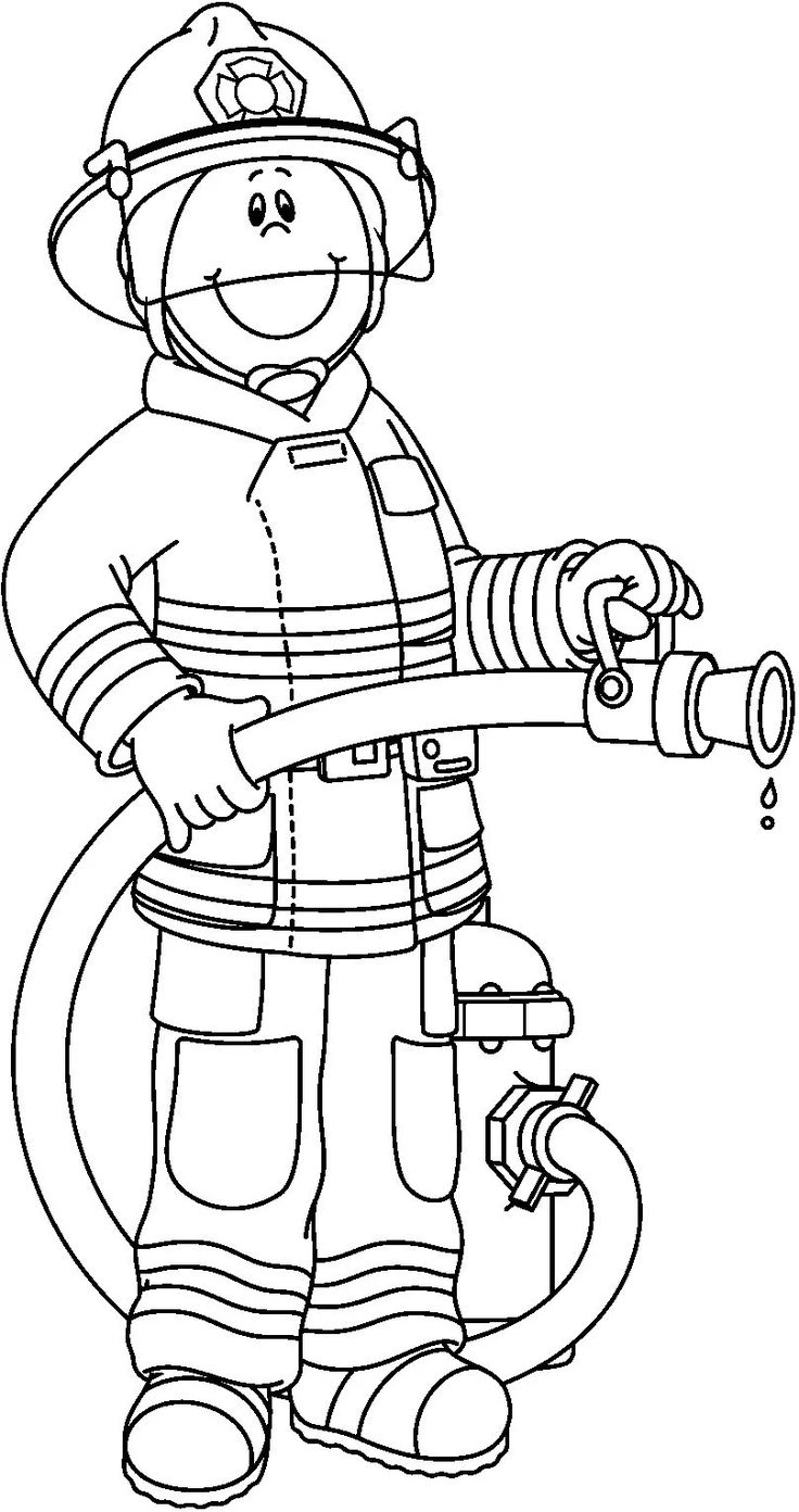 Firefighter black and white pwhu images on firefighter clipart.