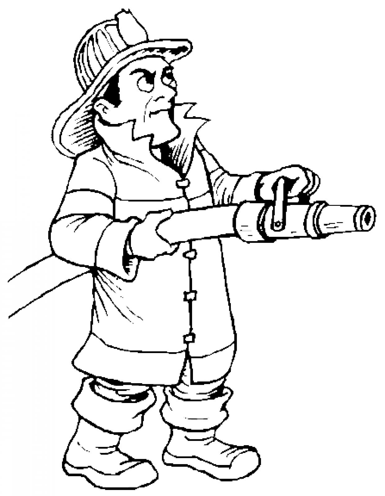 Firefighter black and white firefighter cartoon fire fighter clip.