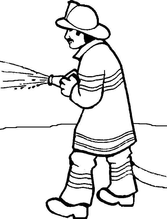 2725 Firefighter free clipart.