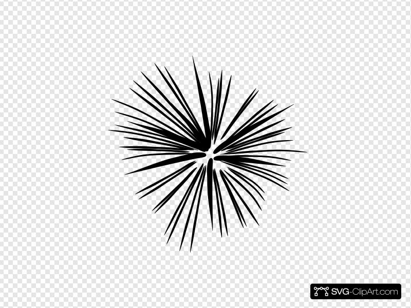 Black And White Fireworks Clip art, Icon and SVG.