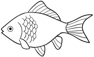 999+ Fish Clipart Black and White [Free Download].
