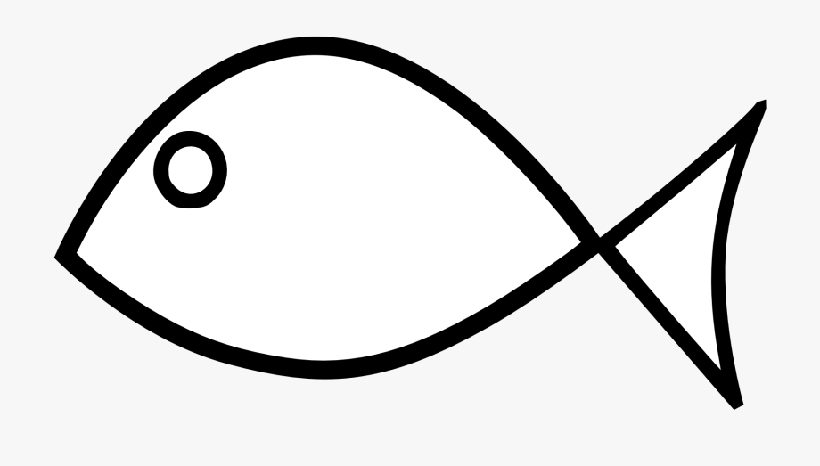 Fish Black And White Fish Outline Clipart Black And.