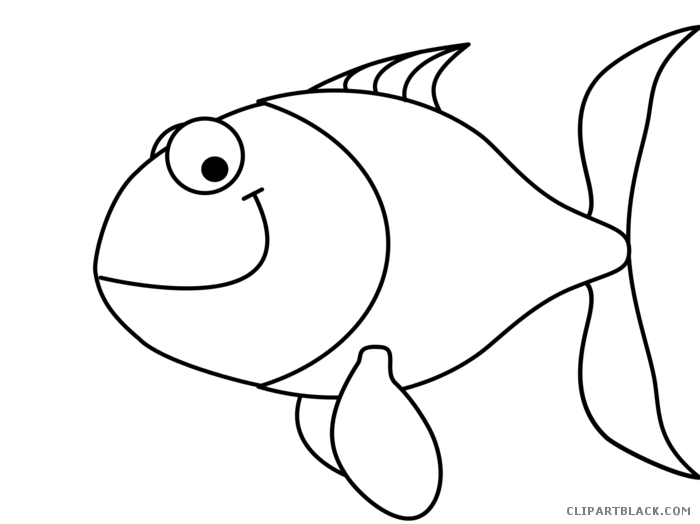 Cartoon fish clip freeuse stock black and white rr collections png.