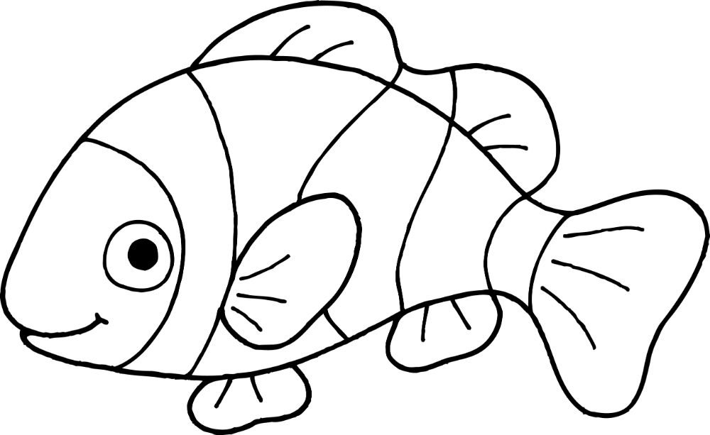Goldfish Clipart Black And White.
