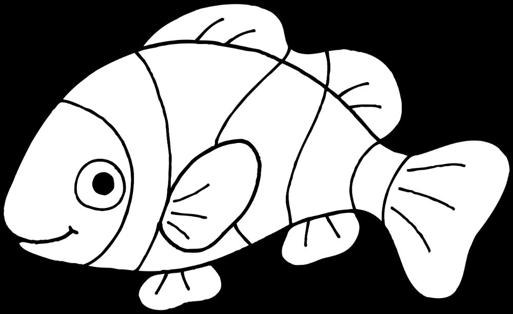 Goldfish Clipart Black And White.